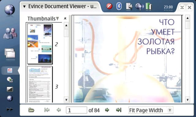 Evince Document Viewer для чтения djvu